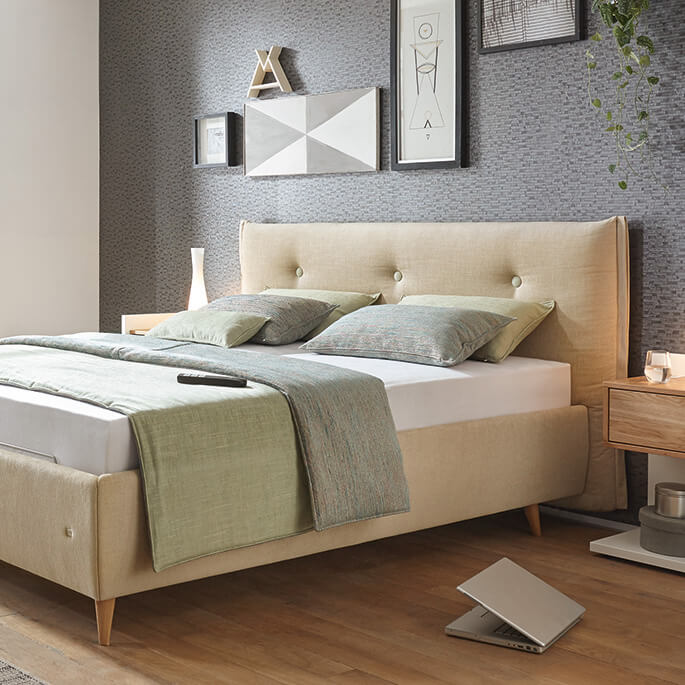 springbox bett elegant inkl topper und bettkasten with. Black Bedroom Furniture Sets. Home Design Ideas