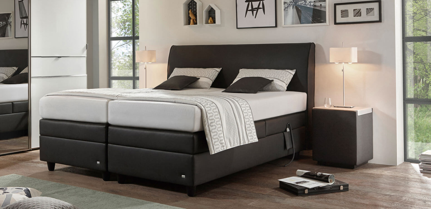 mercata ruf betten das boxspringbett mit eingebauter vollautomatik. Black Bedroom Furniture Sets. Home Design Ideas
