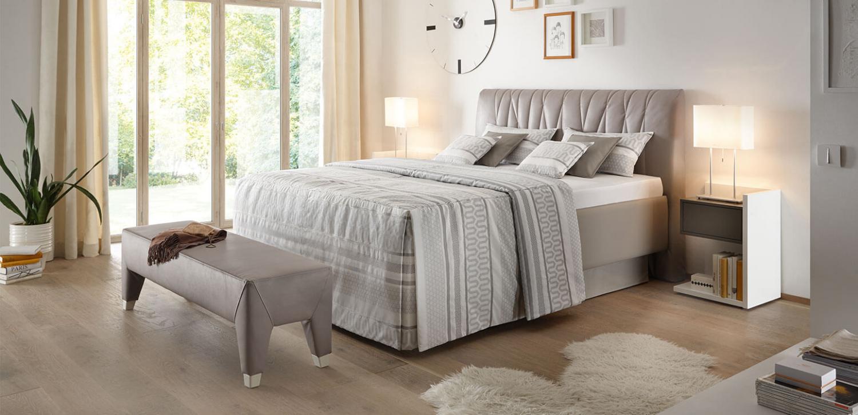 mikado ruf betten das polsterbett mit komfort philosophie. Black Bedroom Furniture Sets. Home Design Ideas