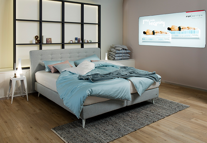 mio boxspring im urbanen landhauslook ruf betten. Black Bedroom Furniture Sets. Home Design Ideas