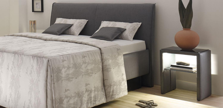 RUF|Betten Adimo mit Nachttisch TISO LED