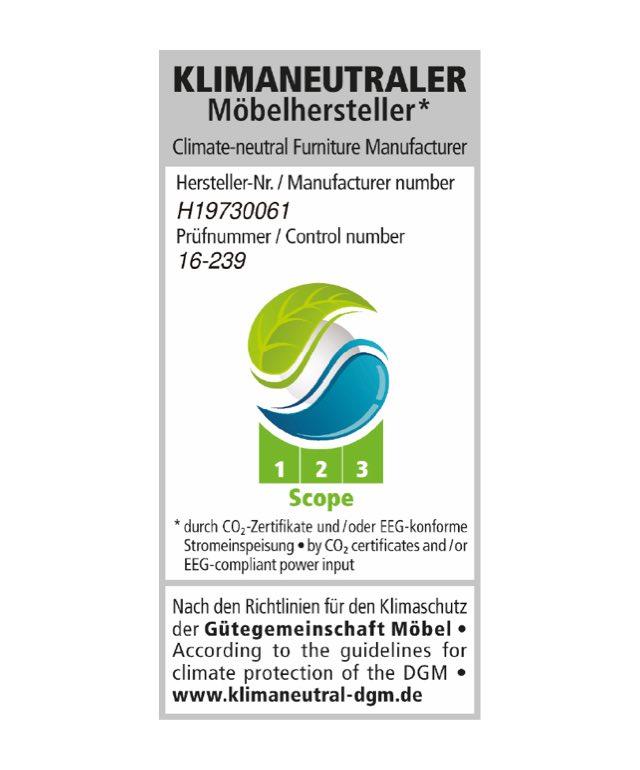 Klimaneutraler Möbelhersteller – Climate-neutral Furniture Manufacturer