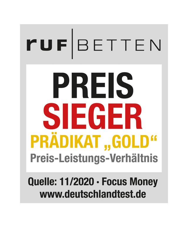 Gütesiegel RUF|Betten bietet bestes Preis-Leistungsverhältnis