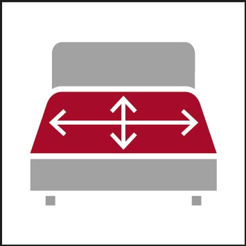 Bed widths/lengths selectable